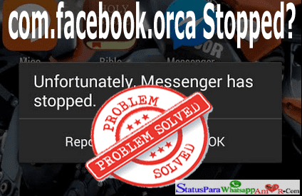 solution for pname com facebook orca error android